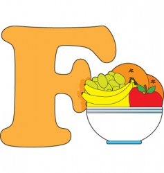 F is for fruit vector image vector image