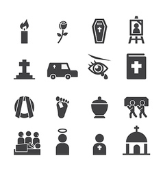funeral icon vector image