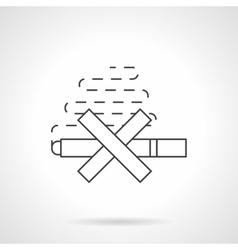 Harm of smoking flat line icon vector image