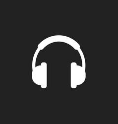 headphone icon earphone headset sign vector image