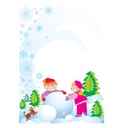 holliday children vector image vector image