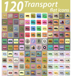 set transport flat icons 04 vector image vector image