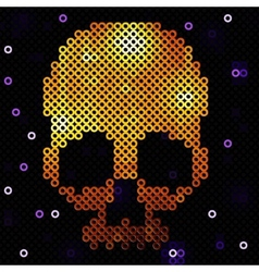 Skull gold Beads sequins vector image vector image
