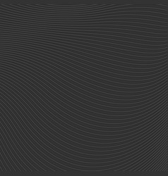 abstract black waves and lines pattern vector image vector image