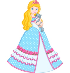 Princess with cat vector image