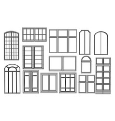 set of windows vector image vector image