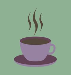 sweet dessert in flat design cup of coffee vector image
