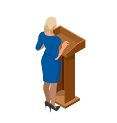 Business woman giving a presentation in a vector image