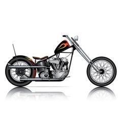 custom chopper vector image vector image