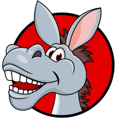donkey head cartoon vector image vector image