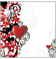 floral valentine ornament for your design you can vector image