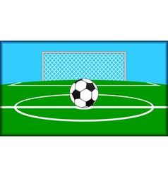soccer theme vector image