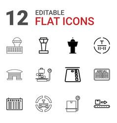 12 terminal icons vector