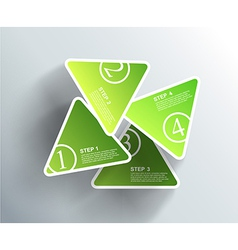 4 cards with numbers and place for your text vector image