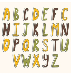 ABC cute alphabet vector