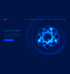 Abstract atom from particles light vector