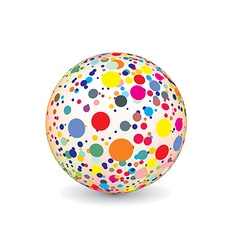abstract multicolor ball vector image