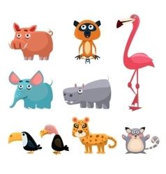 African Animals Fun Cartoon vector