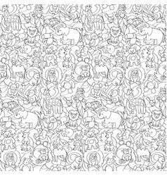Animal toys seamless pattern vector