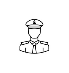 avatar captain outline icon signs and symbols can vector image