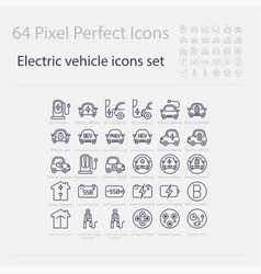 battery electric vehicle iconevbev vector image