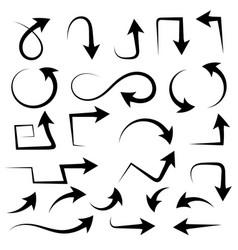 black arrows filigree icons vector image