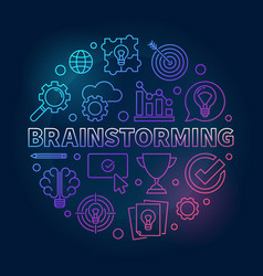 brainstorming round outline bright vector image