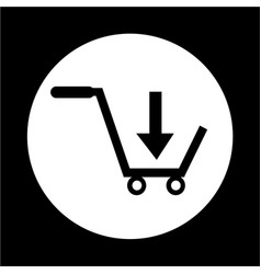 buy shopping cart icon vector image