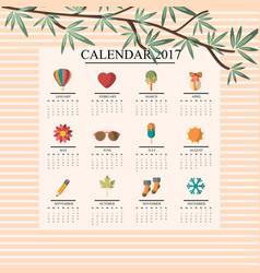 calendar 2017 season vector image