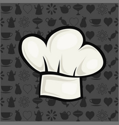 chef hat in cartoon style vector image