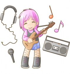 Chibi professions sets musician vector
