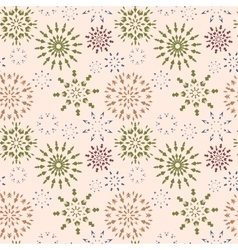 Christmas seamless pattern Brown and green vector image
