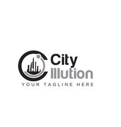 city logo designs concept vector image