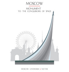 Colorful moscow landmark 6 vector