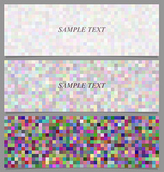 Colorful square mosaic banner background set vector image