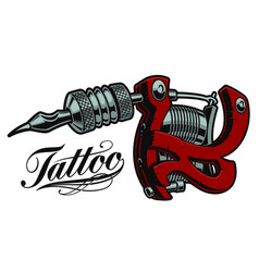 coloured a tattoo machine vector image