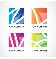 Company logo square abstract elements vector image