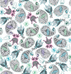 cucumber floral motive with trefoil ornamental vector image