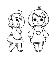 cute cartoon kids and vector image