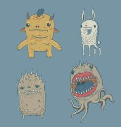 Cute monster set vector
