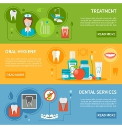 Dental Care Banners Set vector