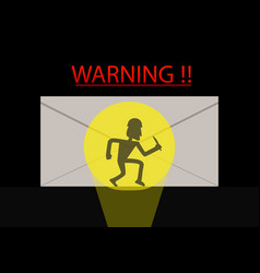 Detected thief in phishing mail vector