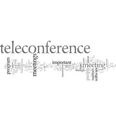 Different methods teleconference meetings vector