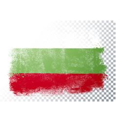 distortion grunge flag bulgaria vector image
