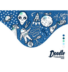 doodle space vector image