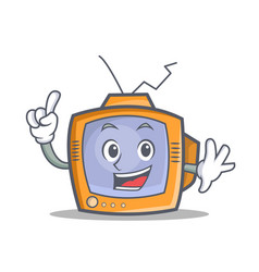 finger tv character cartoon object vector image
