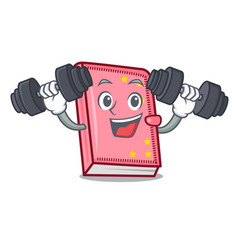 fitness diary character cartoon style vector image