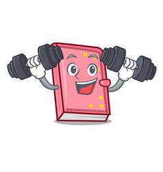 Fitness diary character cartoon style vector