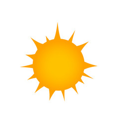 flat sun icon summer pictogram sunlight symbol vector image