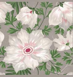 floral seamless pattern graden flower bouquet vector image